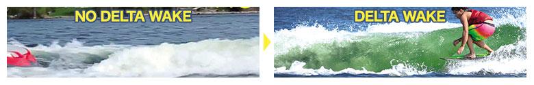デルタ ウェイクサーフィン 波の比較